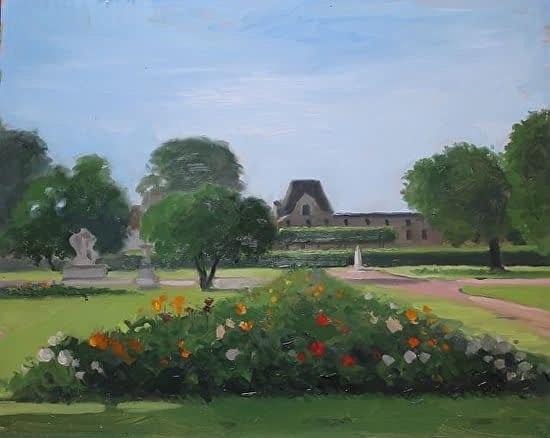 Tuileries Garden, Paris, 16x20