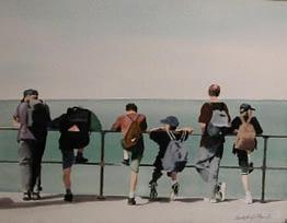 Ocean Backpackers, 11x14