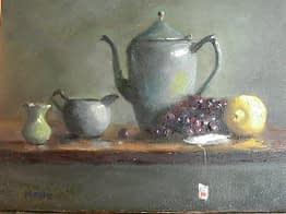 Teapot with Lemon I, 14x18