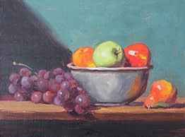 Grapes, Apples and Pear, 12x16