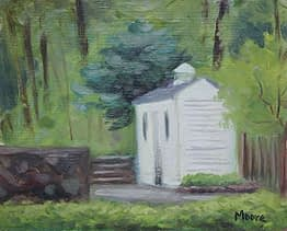 Shed in Spring, 8x10