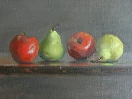 Red Apples & Green Pears, 11x14