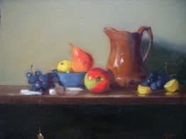 Rockingham Pitcher and Fruit, 20x24