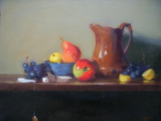 Rockingham Pitcher and Fruit, 20x24