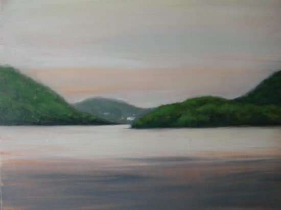Hudson Looking South, 20x24