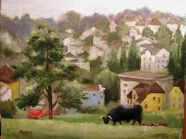 Bull in Luzern, 14x18