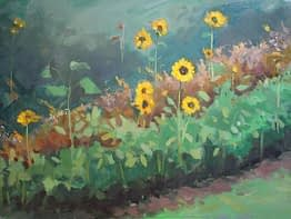 Westchester Sunflowers, 12x16