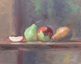 Apple Slice & Pears, 11x14