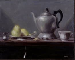 Tea Pot with Pears, 16x20