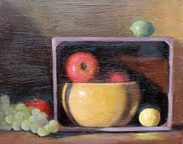 Still life with Crate, 12x16