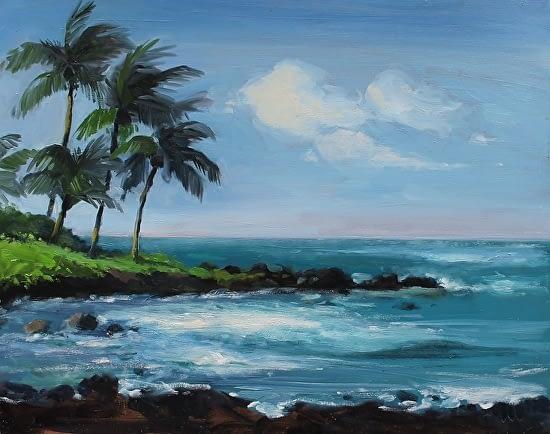 Poipu Beach, 16x20