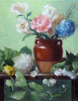 Floral in Terracotta Vase, 20x16