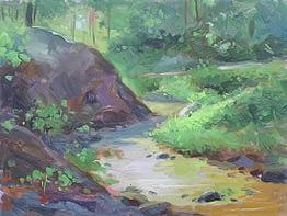 Creek near Bear Mountain, 12x16