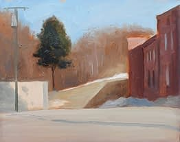 Midwinter at the Hat Factory, 8x10