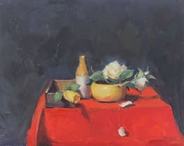 Still life on Red, 11x14
