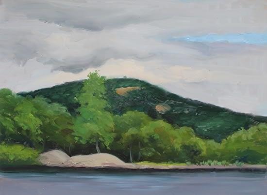 Bear Mountain from Turkey Hill Pond, 12x16