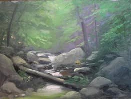 Creek in Harriman, 12x16