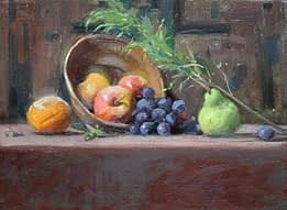 Fruit and grapes, 12x16