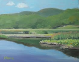 Wetlands at Iona Island, 10x8