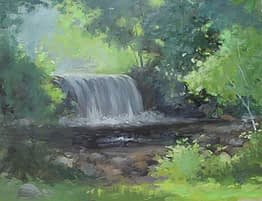 Waterfall, Ringwood Manor, 14x18
